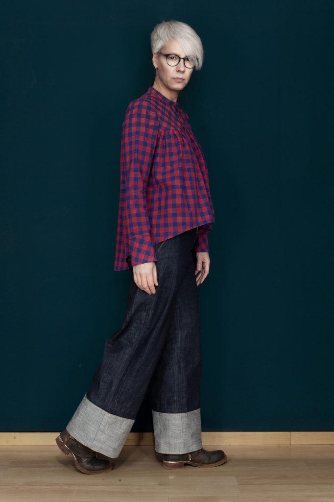 Jeanshose Burdastyle kombiniert mit Gathered blouse
